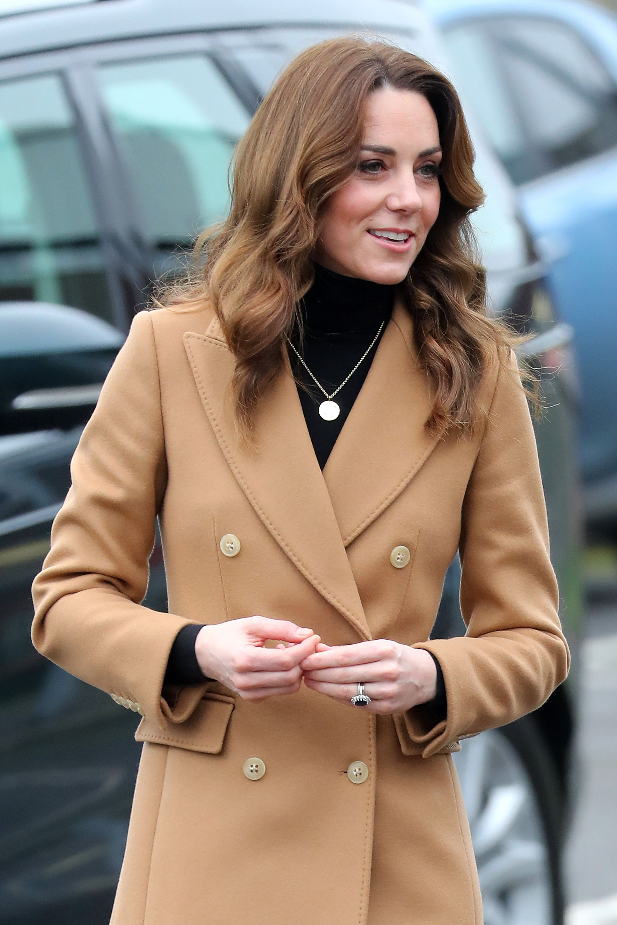 The Duchess of Cambridge steps out in the perfect camel coat