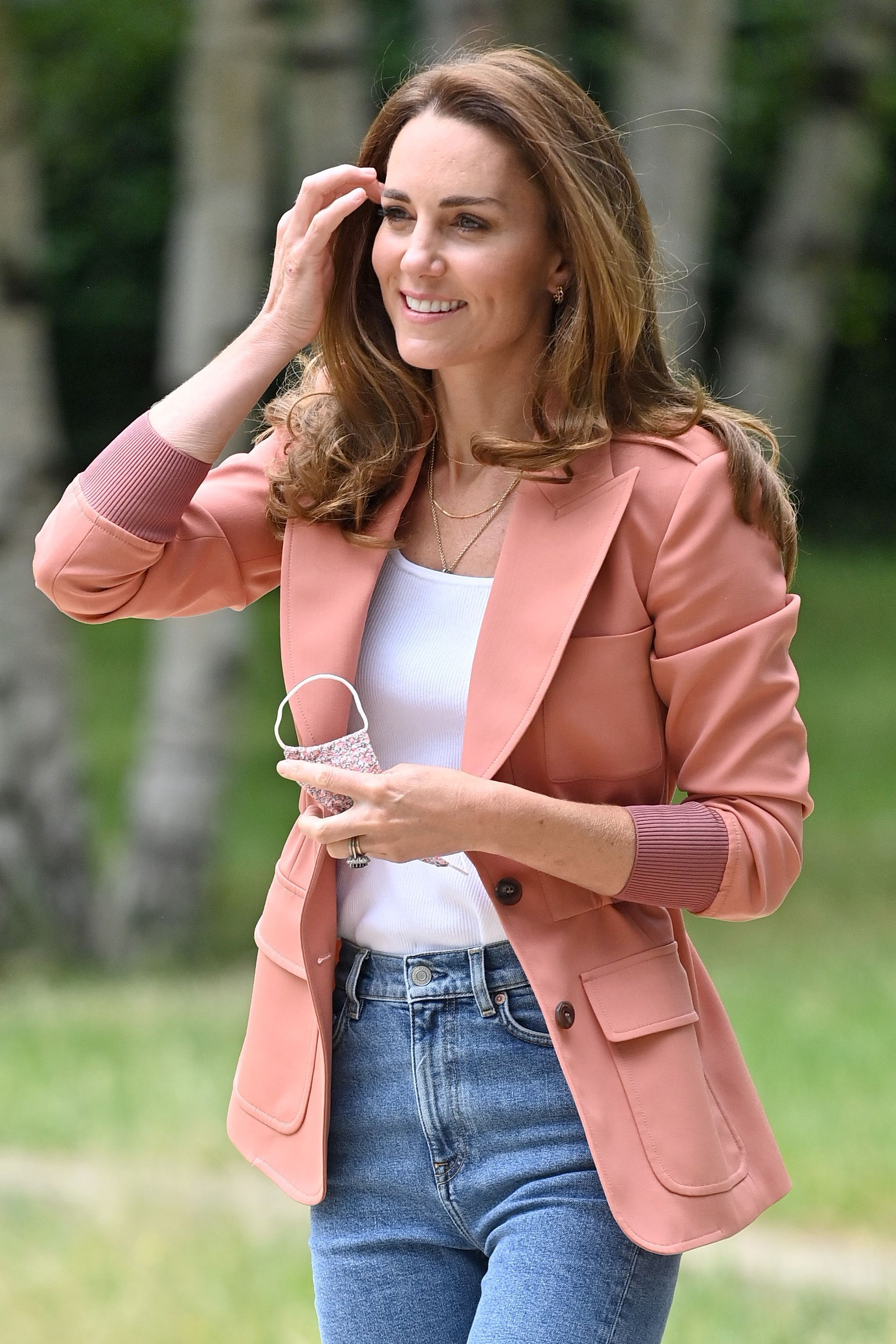 Kate Middleton Pairs a Salmon Chloé Blazer with Jeans and Sneakers for a Museum Visit