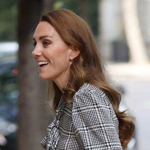 the duchess of cambridge grey check dress london