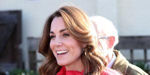Kate Middleton red puffer jacket