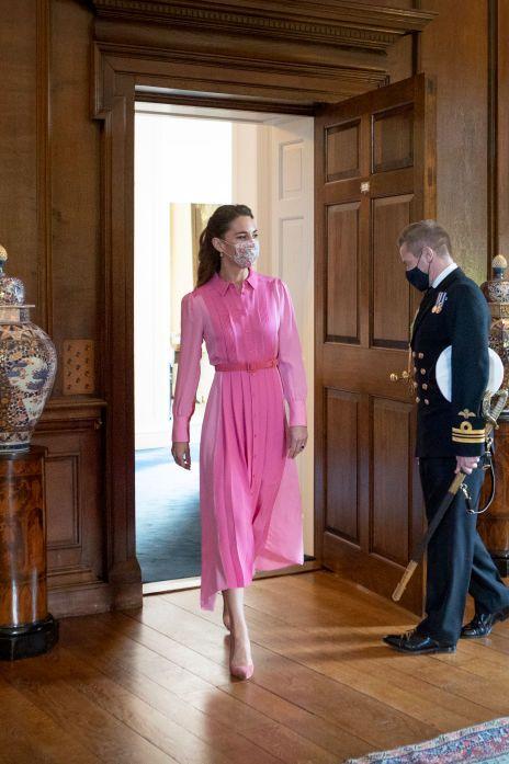 kate middleton vestido rosa