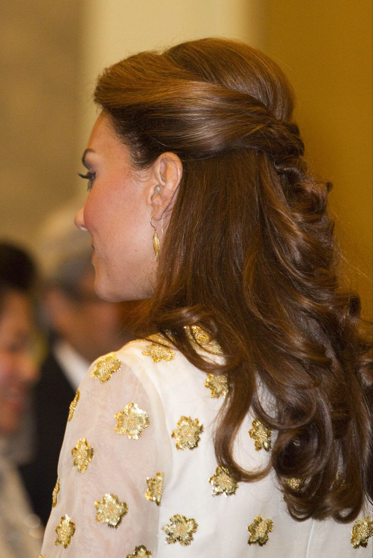 The Duchess loves her half-up styles.