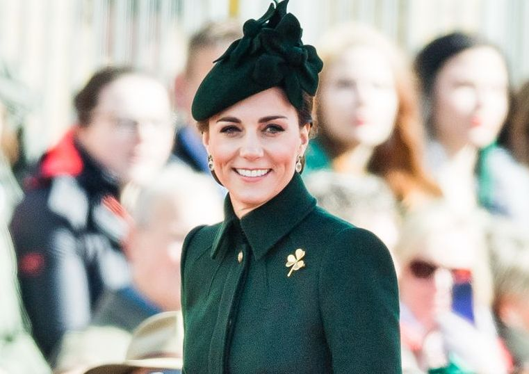 Kate Middleton Stepped Out in a Chic Alexander McQueen Coat Dress for the Irish Guards St Patrick's Day Parade