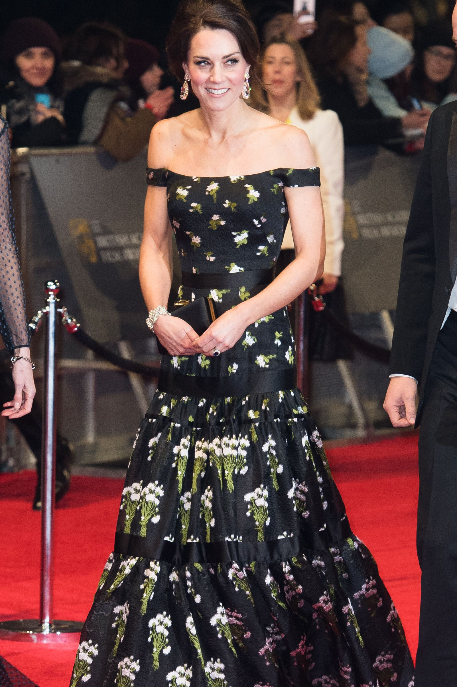 Kate's Off-the-Shoulder Gown