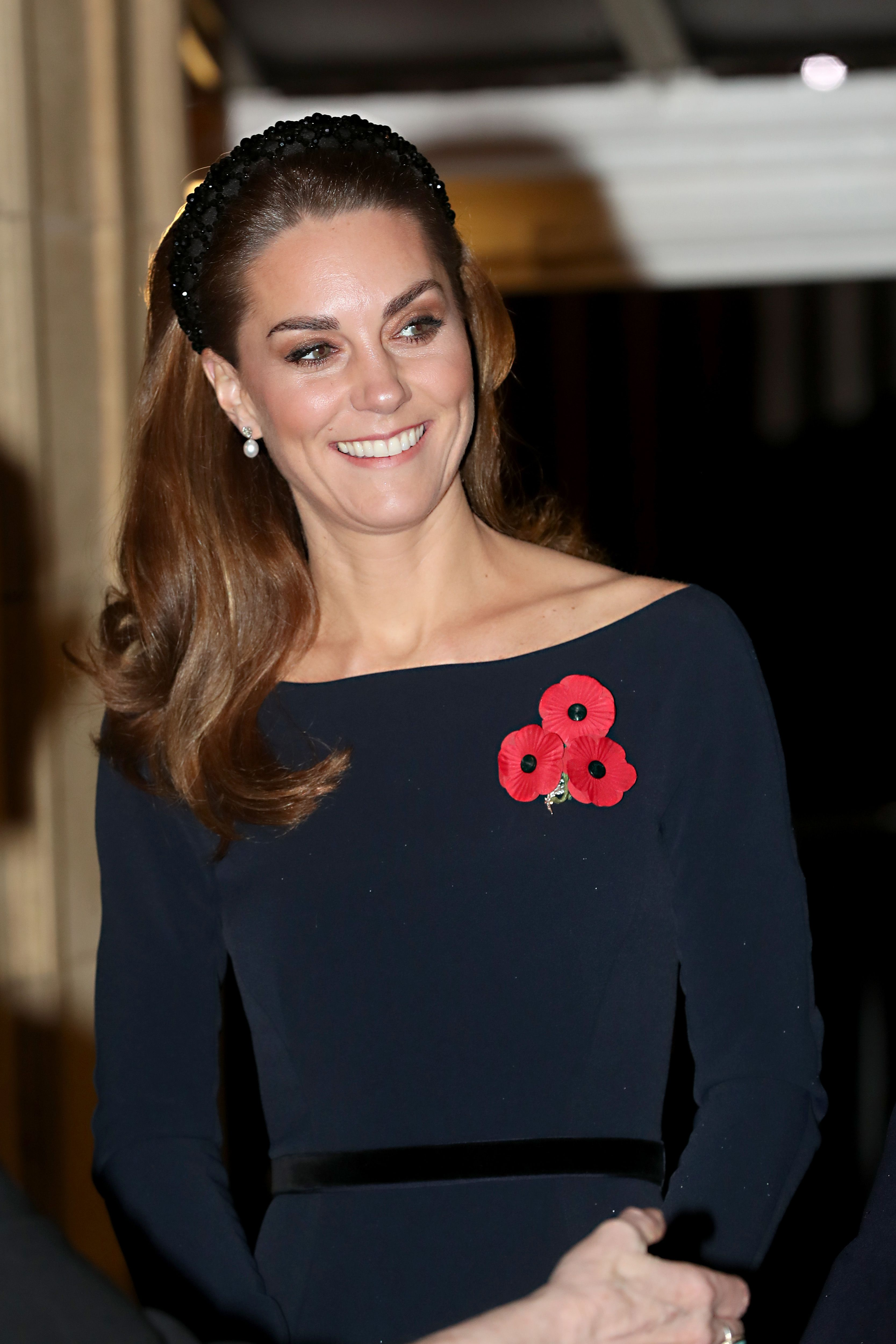 The Duchess of Cambridge wore an on-trend embellished headband to the Festival of Remembrance