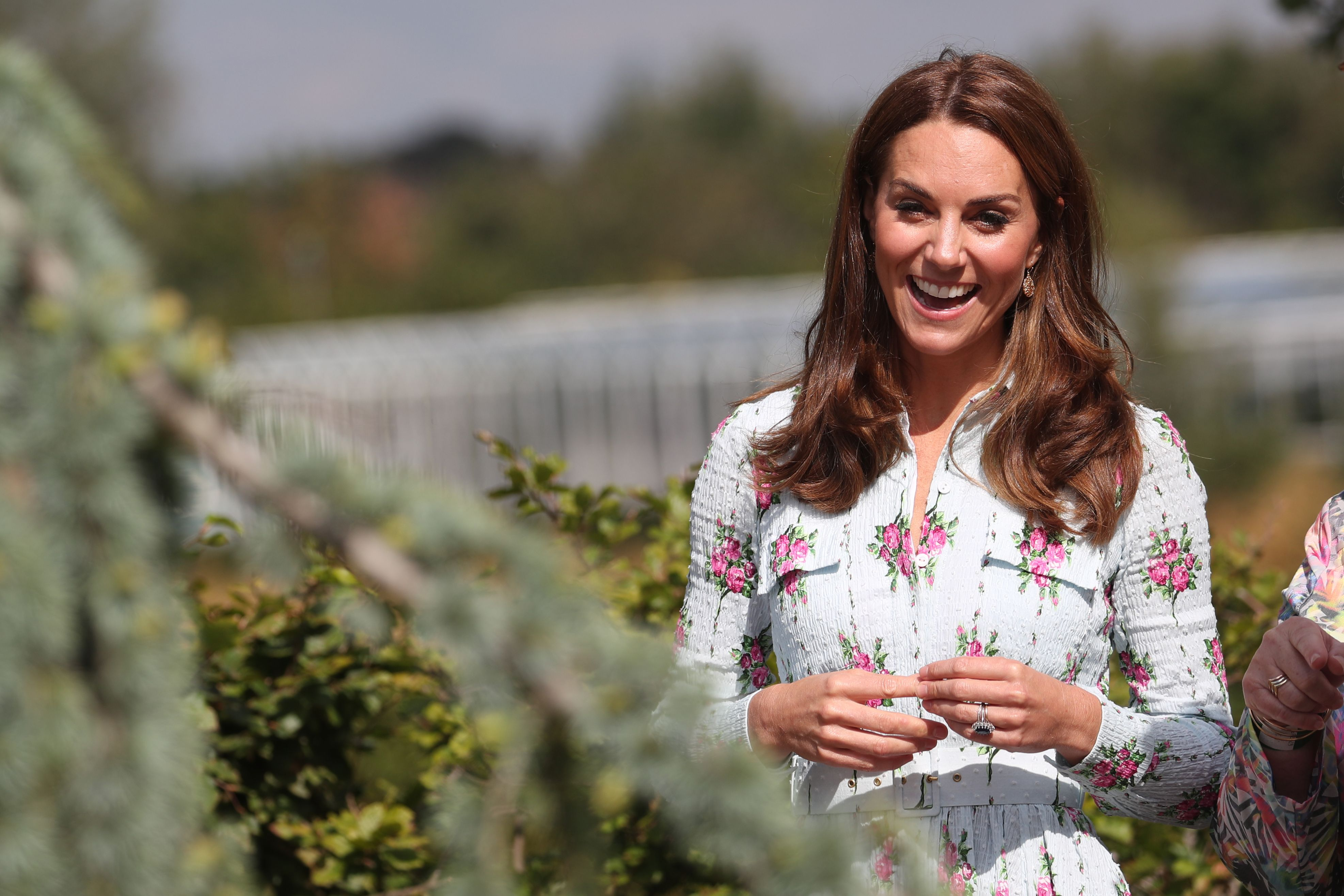 Kate Middleton Makes a Surprise Work Appearance in a Floral Emilia Wickstead Dress