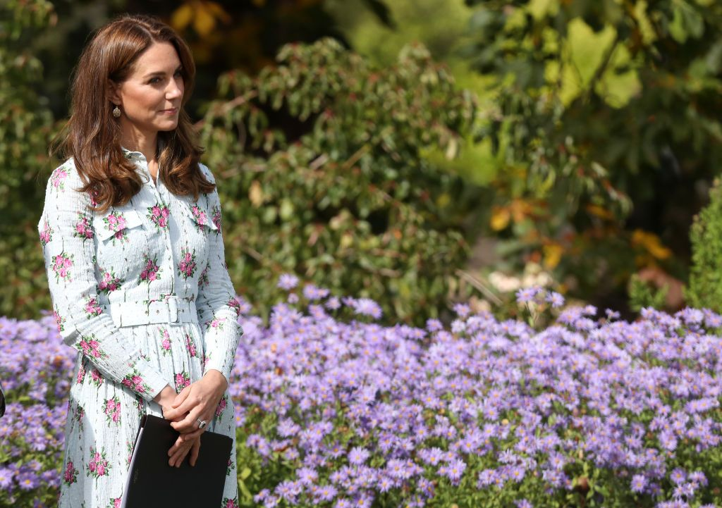 The Duchess of Cambridge goes gardening in an Emilia Wickstead dress
