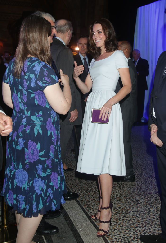 Kate Middleton Also Wore Dark Nail Polish As A Royal Like Meghan Markle