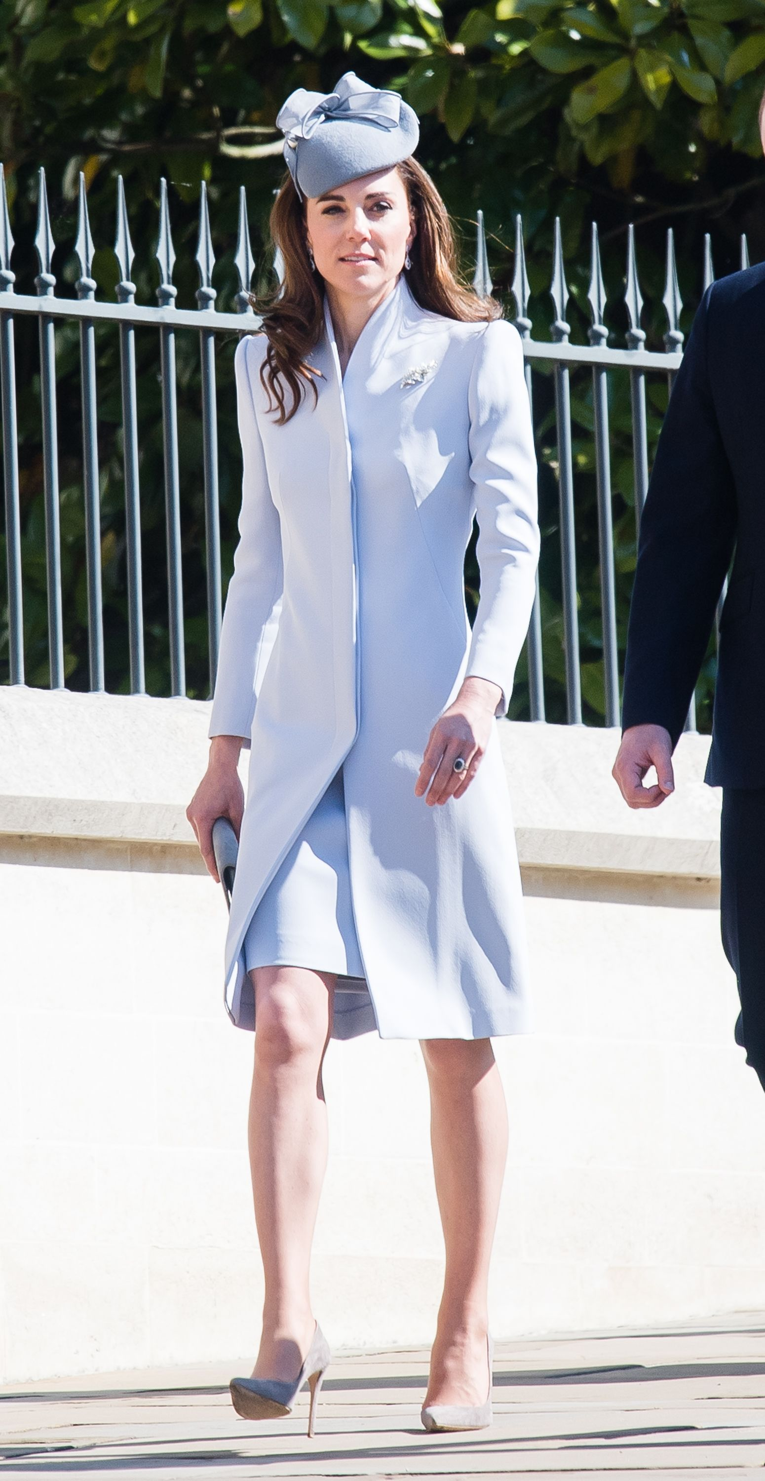 Kate Middleton Stuns in Baby Blue Ensemble at Easter Sunday Service on the Queen's Birthday