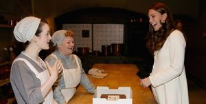 The Duchess Of Cambridge Visits The Set Of Downton Abbey At Ealing Studios