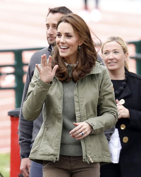 a39d80b7 Kate Middleton Wears Cargo Jacket and Boots on Return from Maternity ...
