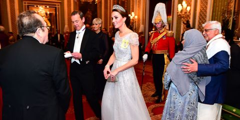 7f14df23a7f Kate Middleton Looks Like a Real-Life Cinderella in This Sparkly Jenny  Packham Gown at the Diplomatic Reception