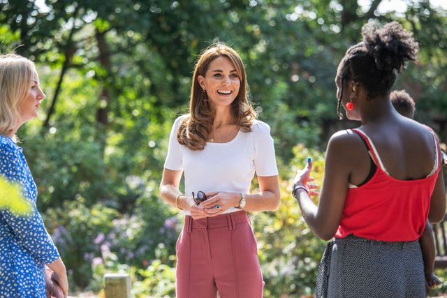 the duchess of cambridge meets families and key organisations to discuss parent wellbeing