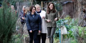 The Duchess Of Cambridge Visits Islington Community Garden