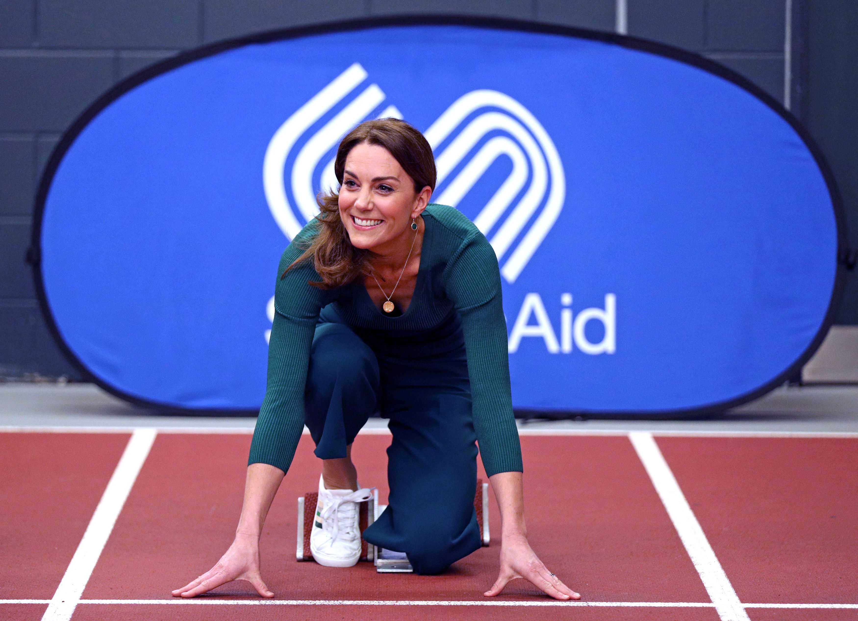 Kate Middleton Makes Being Green Look Easy in Matching Emerald Set and Sneakers