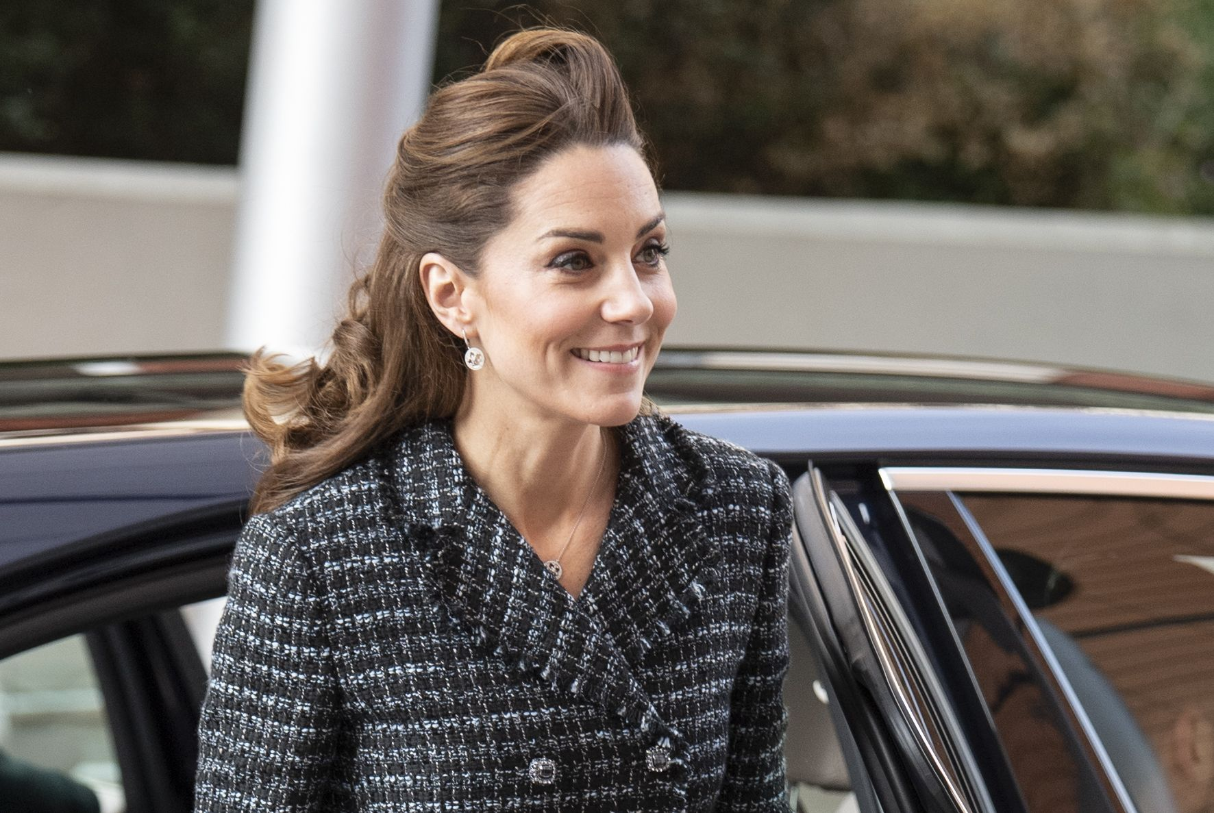 Kate Middleton Rewore Her Favorite Tweed Skirt Suit to Evelina London Children's Hospital