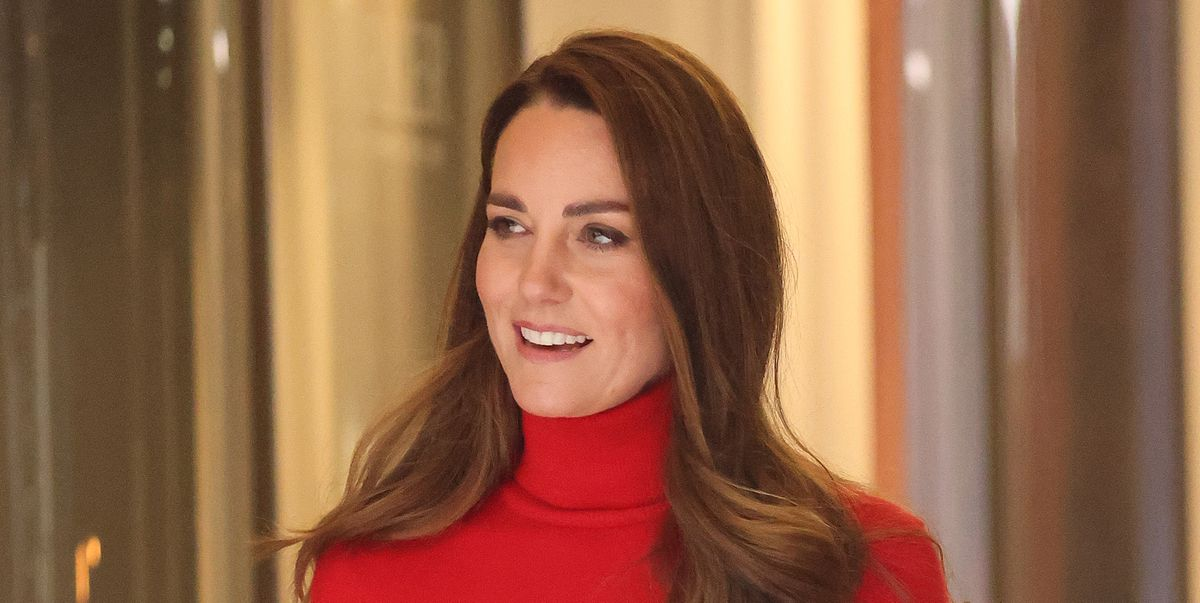 The Duchess of Cambridge stepped out in red for an important keynote speech