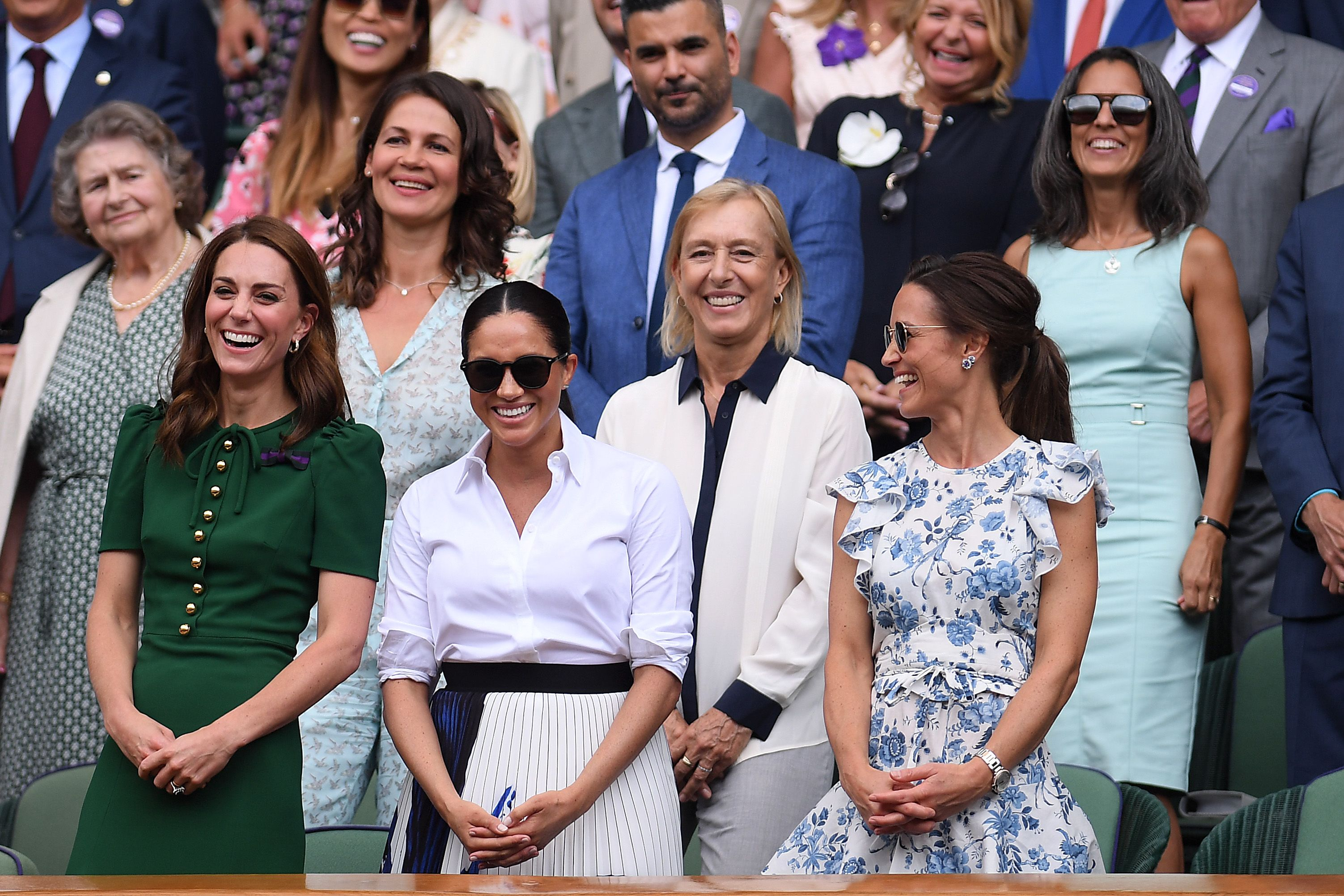 You Def Missed Kate Middleton Comforting Meghan Markle After Serena Williams Lost at Wimbledon