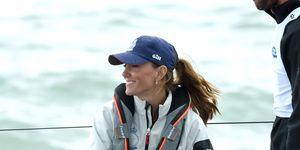 La Duquesa de Cambridge, Kate Middleton, en la regata.