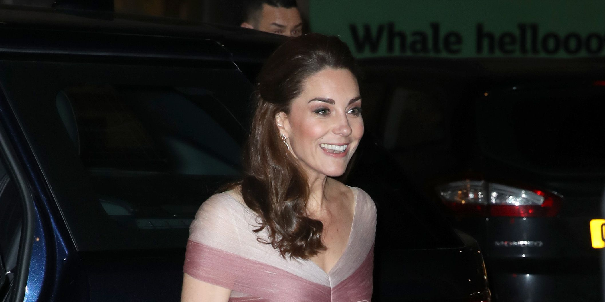 Kate Middleton Just Arrived at the V&A Wearing a Stunning Rose-Colored Gucci Gown