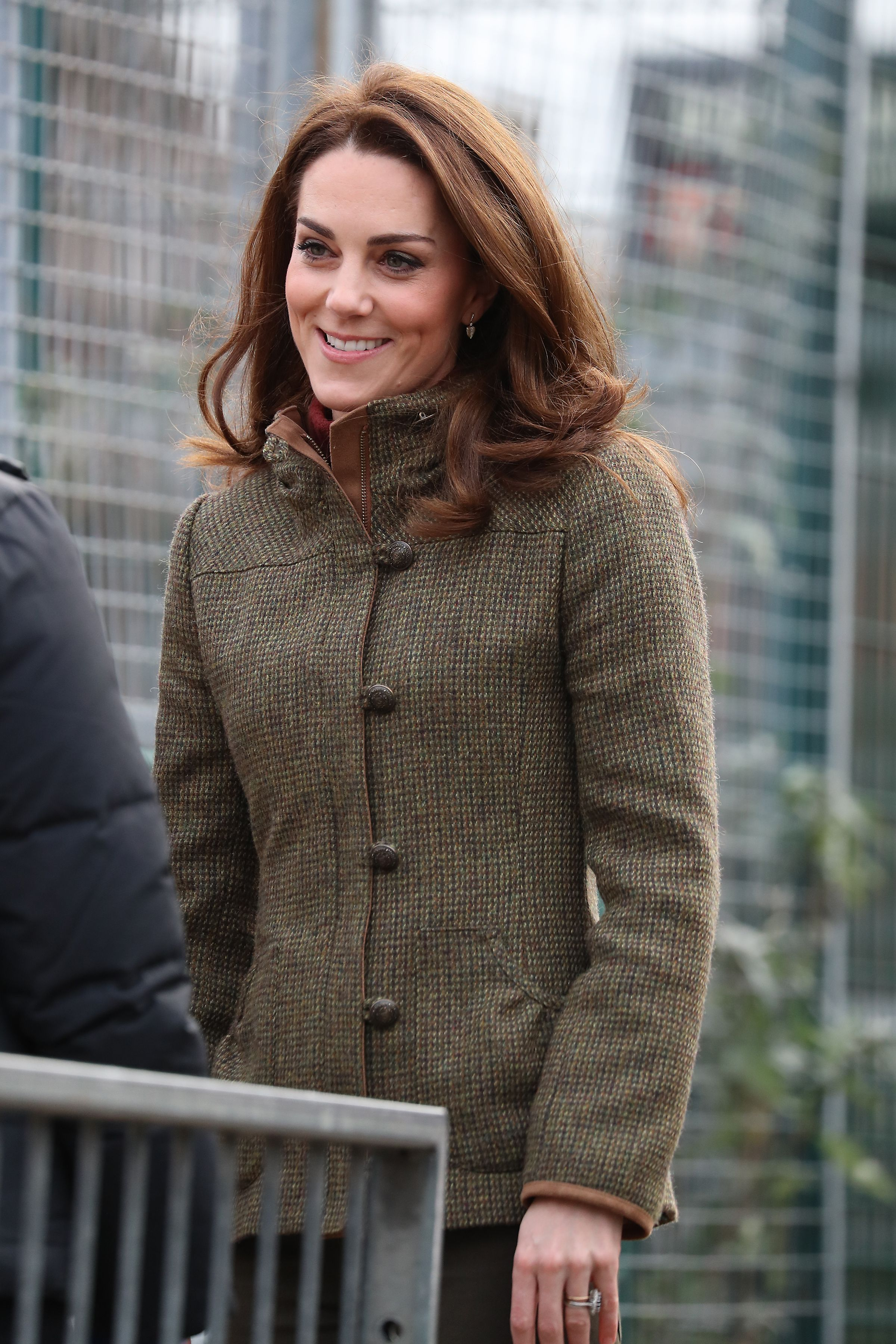 Kate Middleton Wears a Tweed Jacket, Skinny Jeans, and