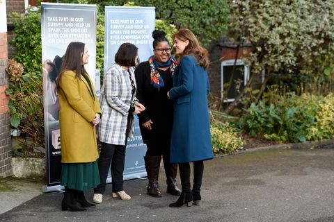 Catherine, Duchess of Cambridge visits LEYF Stockwell Gardens Nursery and Pre-School...