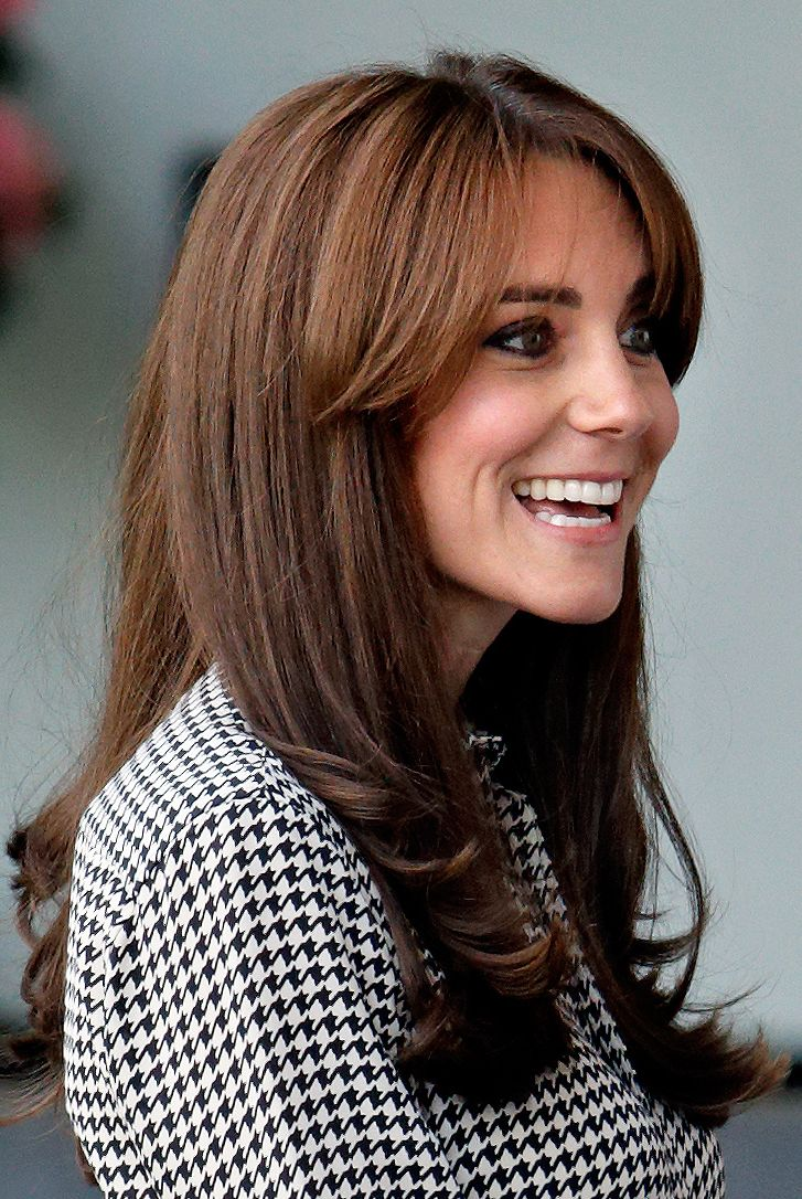 The Duchess shocked the world when she changed up her style with a pair of face-framing long bangs.
