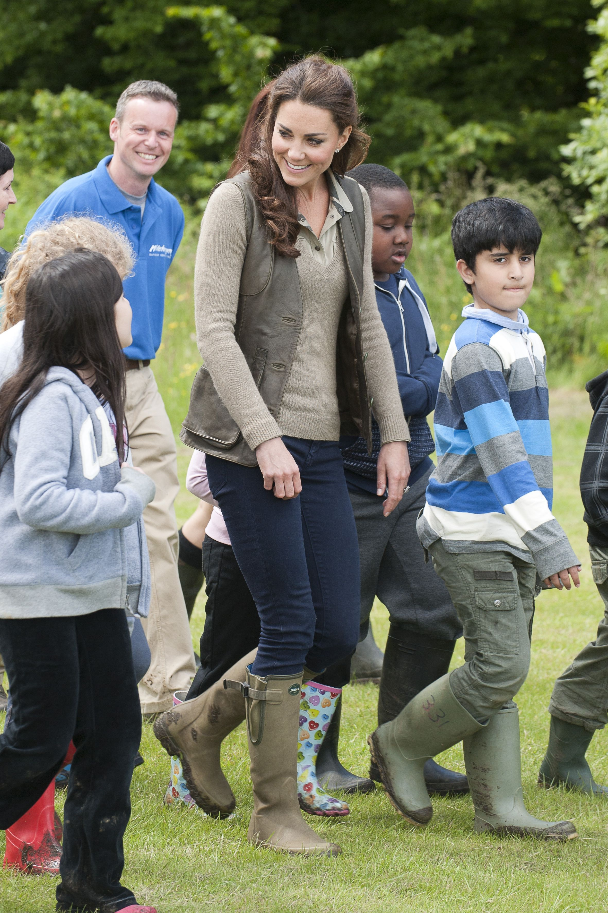 Shop Now Le Chameau Vierzonord Neoprene Lined Boot, $239 For outdoor activities, like this 2012 event with schoolchildren in Kent, Kate owns a pair of waterproof boots from the French brand Le Chameau.