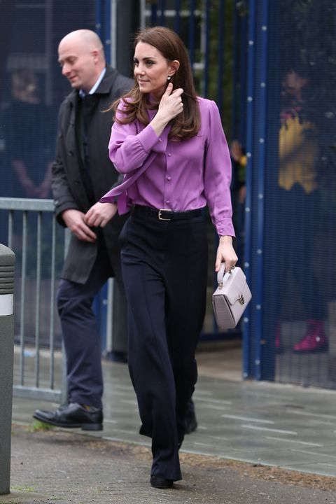Kate Middleton Wore Her Gucci Blouse Backwards For A Visit