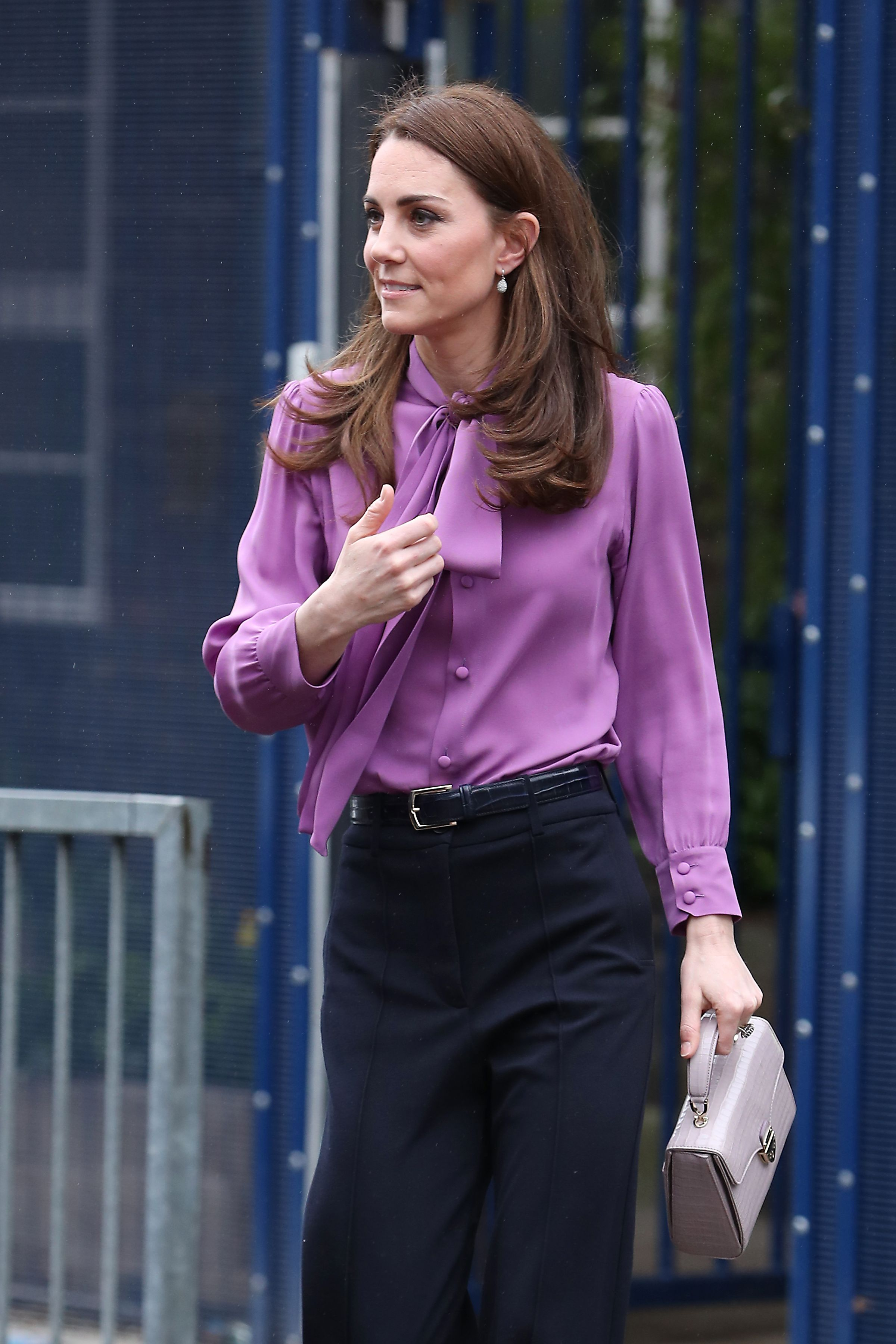 755ce3b2b8e1 Kate Middleton Wore Her Gucci Blouse Backwards and We Almost Missed It