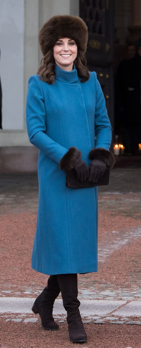 kate in norway in 2018, first wearing the coat