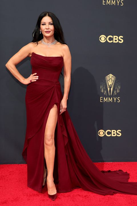 los angeles, california   september 19 catherine zeta jones attends the 73rd primetime emmy awards at la live on september 19, 2021 in los angeles, california photo by rich furygetty images