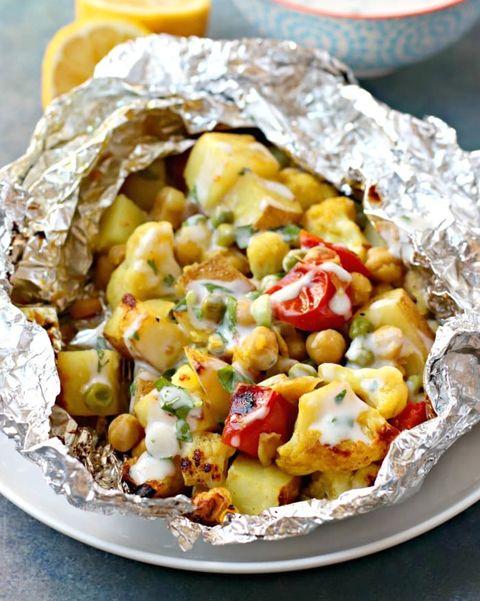 cauliflower curry foil packet recipe