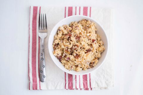 sun dried tomato and bacon cauliflower rice