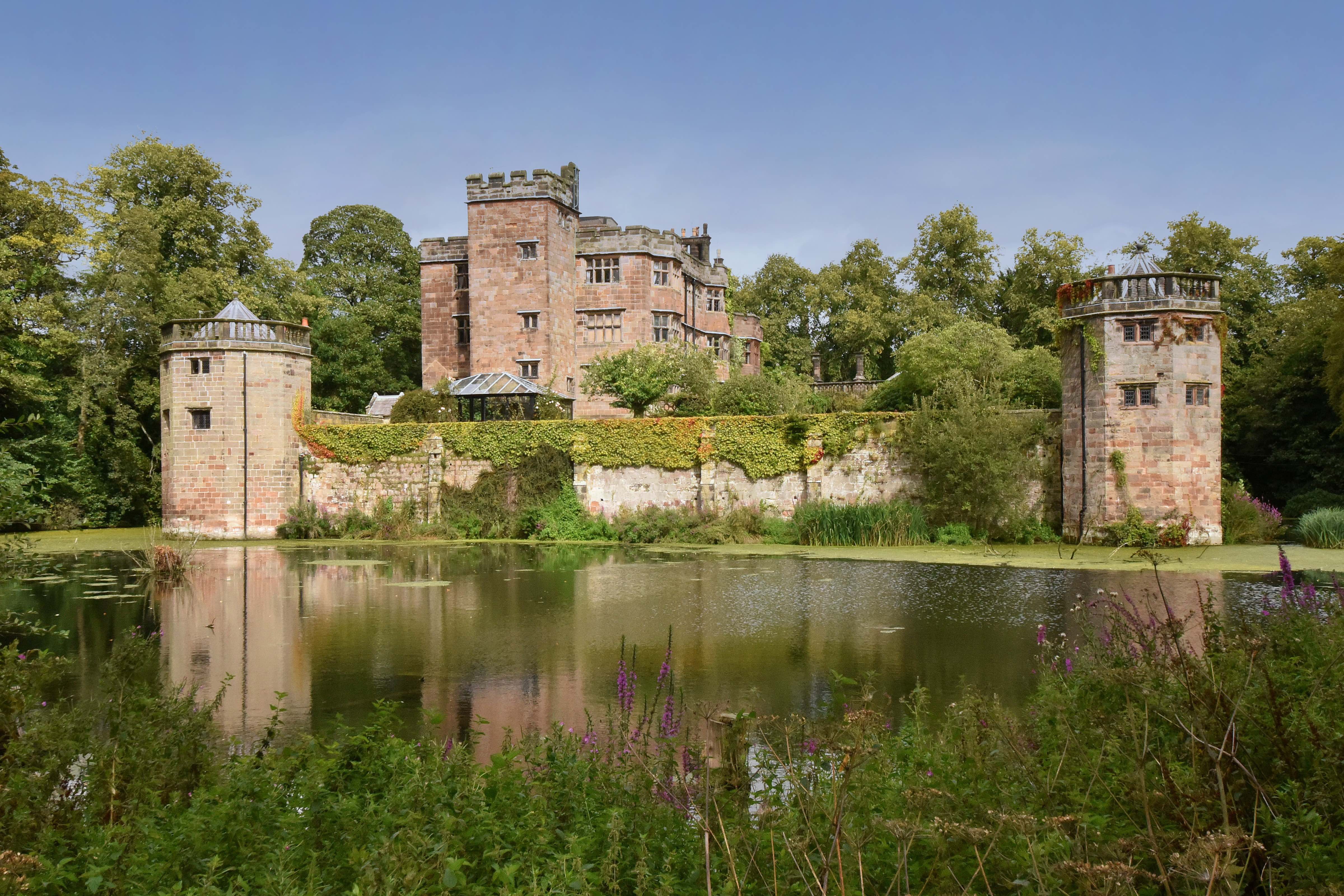 A majestic Grade I-listed moated castle in Staffordshire