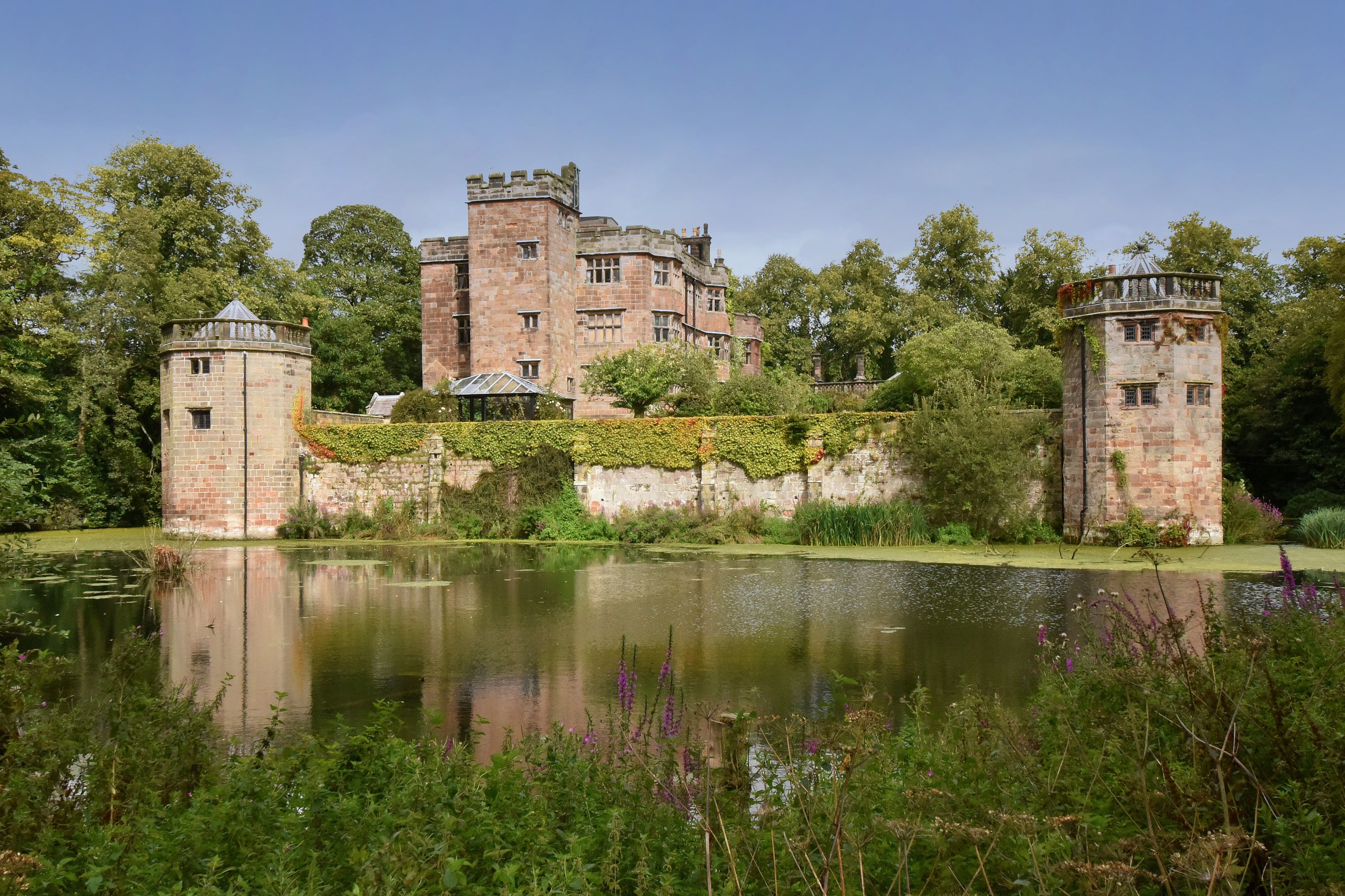 Grade I listed castle with 16 bedrooms, original moats and a dungeon is for sale in Stoke-on-Trent