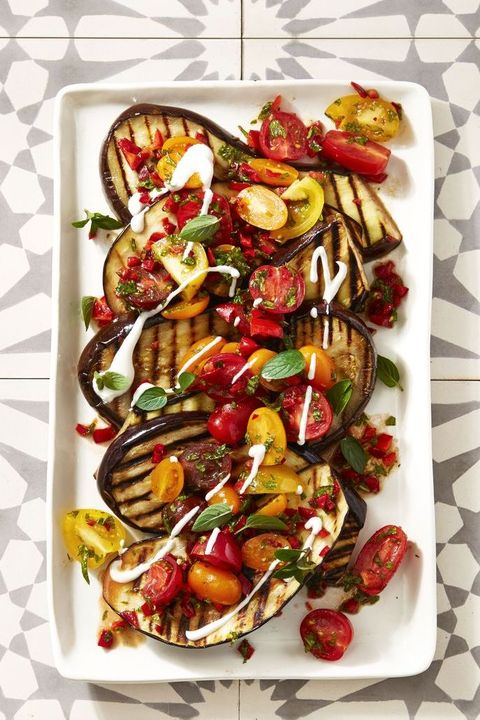 cayenne grilled eggplant tomato salad
