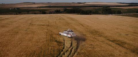 Field, Plain, Soil, Farm, Vehicle, Off-road racing, Grass family, Agriculture, Ecoregion, Grassland,