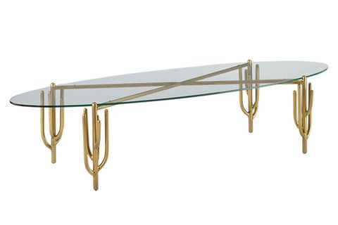 Table, Coffee table, Furniture, Ironing board, Shelf, Sofa tables, Rectangle, Brass, Oval, Metal,