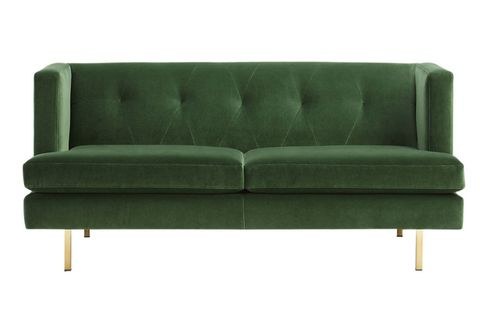 Couch, Furniture, Green, Sofa bed, Turquoise, studio couch, Room, Leather, Armrest, Loveseat,