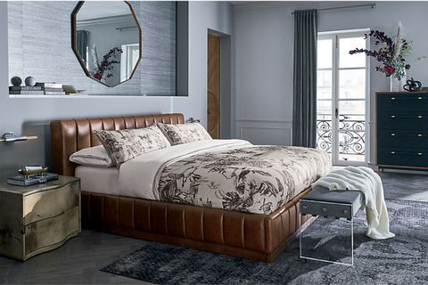CB2 Leather Bed