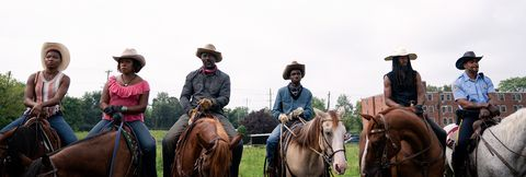 ivanna mercedes lorraine toussaint idris elba caleb mclaughlin jamil prattis and cliff method man smith in concrete cowboy