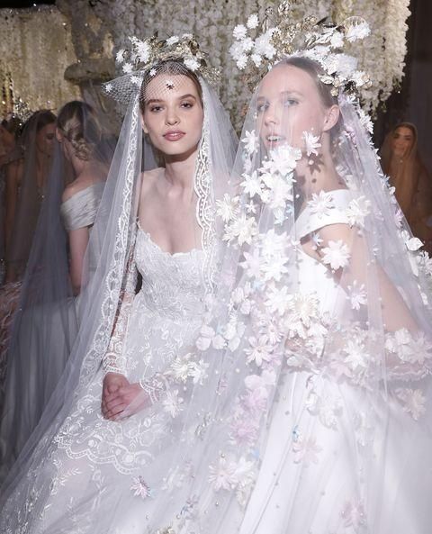 Wedding dress, Veil, Gown, Dress, Bridal accessory, Bride, Bridal veil, Bridal clothing, Clothing, Fashion,