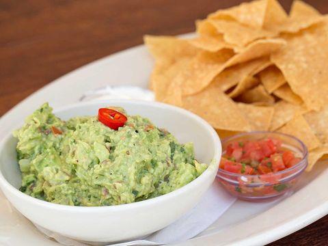 Dish, Food, Cuisine, Guacamole, Ingredient, Tortilla chip, Dip, Totopo, Produce, Nachos,