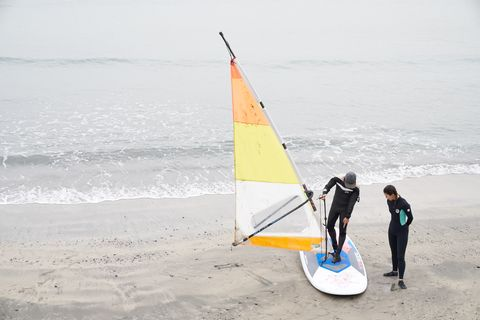 Sail, Sailing, Vehicle, Recreation, Sailboat, Boat, Windsurfing, Surfing Equipment, Water sport, Watercraft,