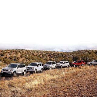 2005 ford explorer, 2005 jeep grand cherokee, 2005 mitsubishi montero, 2005 nissan pathfinder, 2005 toyota 4runner, 2005 volkswagen touareg