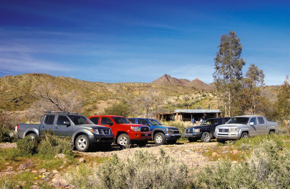 Tested: 2006 Honda Ridgeline vs. the Compact Pickup Competition