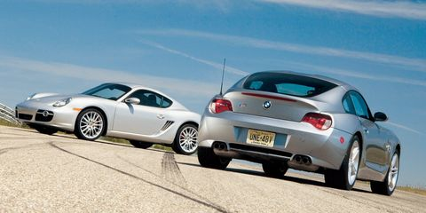 2006 bmw z4 m coupe and 2006 porsche cayman s