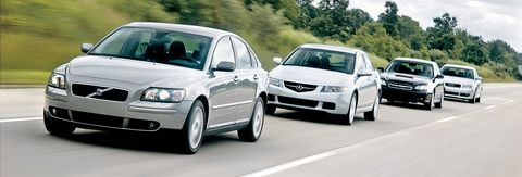 2004 acura tsx, 2004 audi a4, 2004 subaru legacy, and 2004 volvo s40