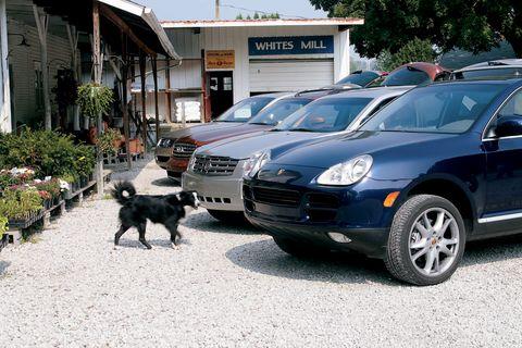 2004 cadillac srx, 2004 infiniti fx45, 2004 porsche cayenne, 2004 volkswagen touareg